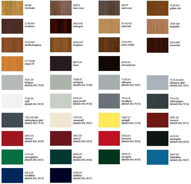 Kunststofffenster farben  Farben nach Ihrem Geschmack für Fenster & Türen - H.Jasmund